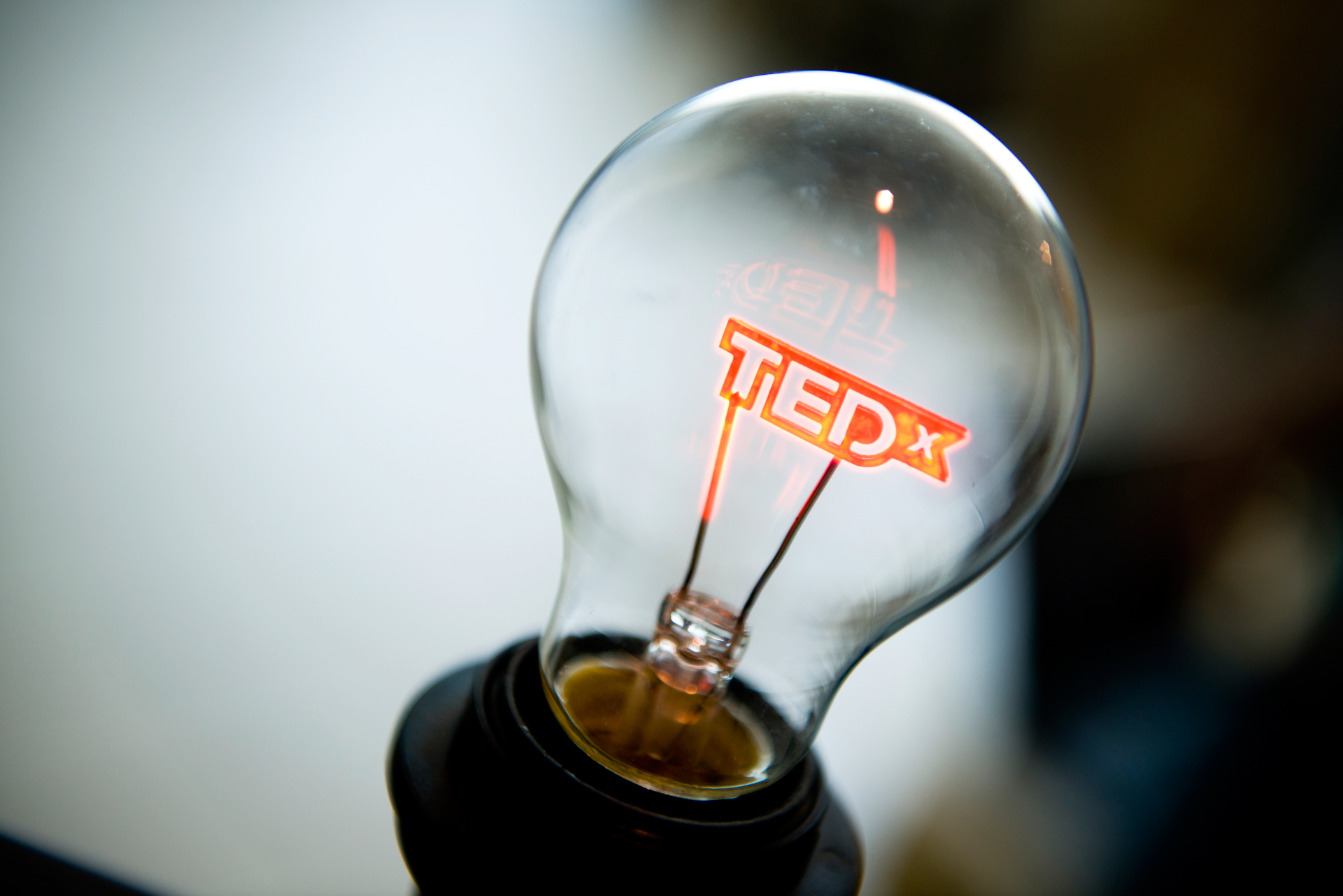 Tedx lightbulb filament for TedxWinterPark upcoming event